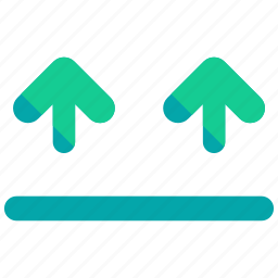 arrows, delivery, logistic, right, side, up icon