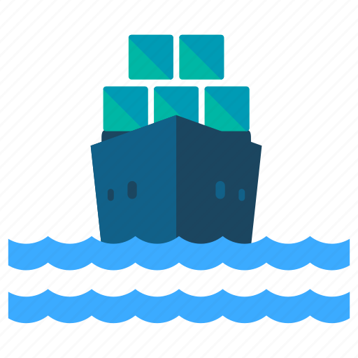 delivery, logistic, nautical, ship, shipment, transport icon
