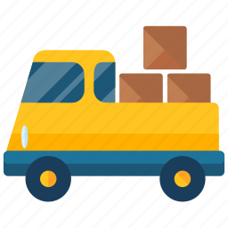 box, delivery, logistic, package, transport, truck, vehicle icon