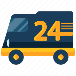 delivery, four, logistic, transport, twenty, van, vehicle icon