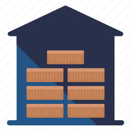 crate, delivery, house, logistic, package, storage, warehouse icon