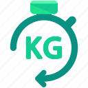 delivery, kilo, kilogram, logistic, weight icon