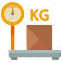 delivery, kilo, kilogram, logistic, package, scale, weight icon