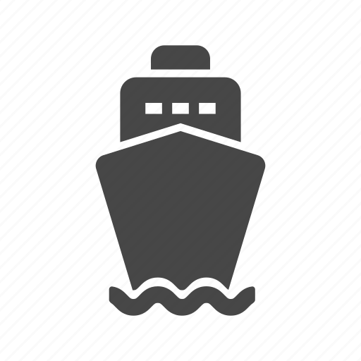 boat, cargo ship, container icon