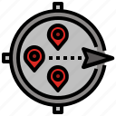 compass, direction, location, map, orientation icon