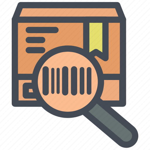 barcode, code, codes, delivery, logistics, magnify icon
