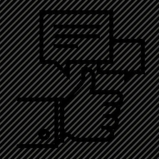 customer, good, like, speak, talk, testimonial, testmonials icon