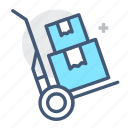 express, hand cart, hand truck, handtruck, logistic, logistics, package delivery icon