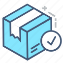 acepted, box, delivery, package, parcel, ship, shipment icon