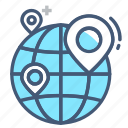 locations, locator, logistics, map, path, plan, route icon