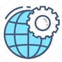 configuration, connection, globe, network, network settings, settings, world icon