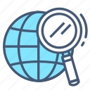 earth, gps, location, navigation, place, search, world icon