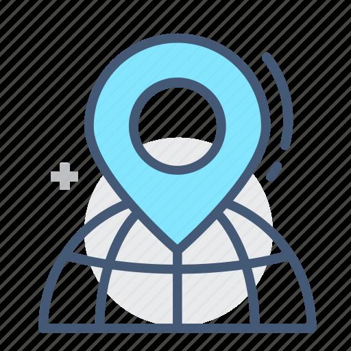 address, geography, globe, highlight, location, marking, world icon