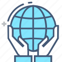 eatrh, eco earth, help, holding up, in hand, resting, support icon