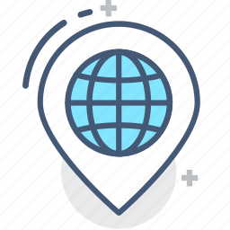 address, earth, globe, highlight, location, marking, world icon