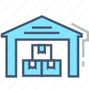 depot, logistics, room, storage garage, store, supplies, warehouse icon