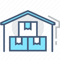 depot, logistics, room, storage garage, store, supplies, warehouse icon