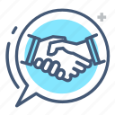 agree, business, deal, hand shake, hands, meeting, shake icon