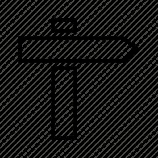 arrow, direction board, path guide, street board, street sign, way icon