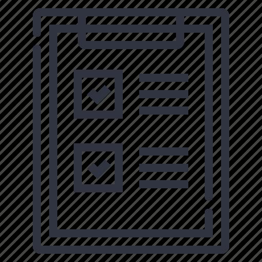 board, checklist, note icon