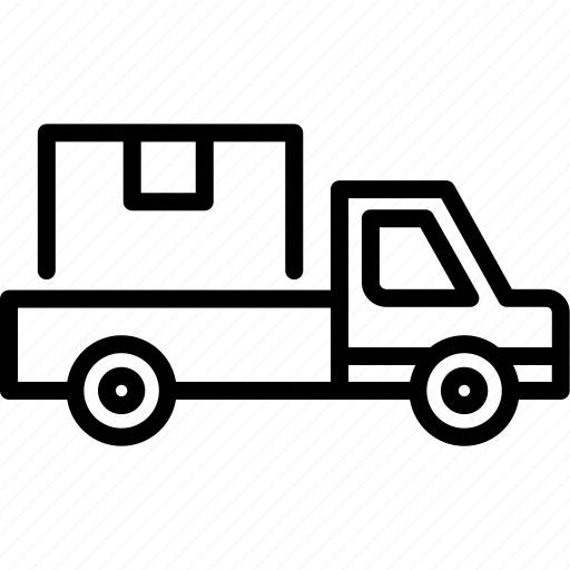 car, delivery, logistic, pickup, transport, transportation, vehicle icon