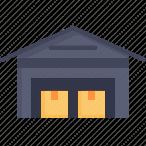 distribution, goods, logistic, stock, storage, store, warehouse icon