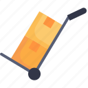 business, cargo, cart, logistic, transport, transportation, trolley icon