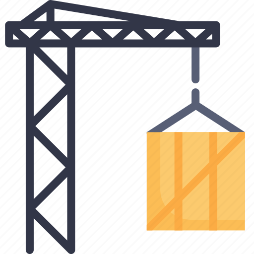 crane, hook, industry, lifting, loading, logistic, machinery icon