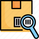 barcode, code, label, reader, scanning, searching, tracking icon