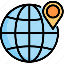 location, navigation, pin, place, point, position, travel icon