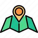 compass, direction, location, map, navigation, pin, route icon