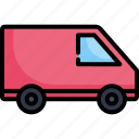 car, delivery, logistic, transport, transportation, van, vehicle icon