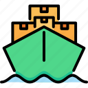 boat, delivery, sea, ship, shipping, transportation, vessel icon