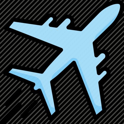 aircraft, airplane, aviation, flight, plane, transportation, travel icon