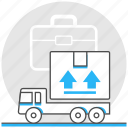 build, business, industry, logistics, transport, truck icon