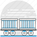 container, logistics, rail, railcar, train, transport, transportation icon