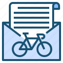 bicycle, messenger, sport, transport icon