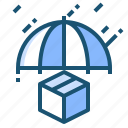 cargo, keepdry, protect, umbrella icon