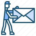 delivery, door, postman icon