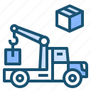 flatbed, transp, transport, truck icon