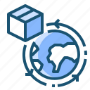 box, globe, location, logistic, shipping, world