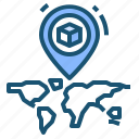 globe, location, map icon