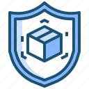 logisticssecurity, package, padlock, protectedbox, safeshipping icon