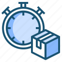 box, deliverytime, fast, fastdelivery icon