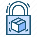 logisticssecurity, package, padlock, protectedbox, safeshipping