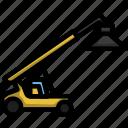 container, cargo, vehicle, transportation, machine, loader, port