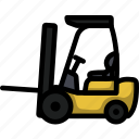 forklift, industrial, logistic, warehouse, lift, storage, lineart