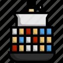 container, ship, cargo, sea, transportation, transport, freight