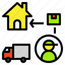 carry, courier, delivery, parcel, truck icon