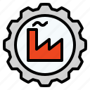 engine, factory, gear, industrial, industry, machine icon